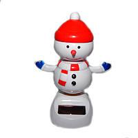 "Сувенир ""Танцующий Снеговик в шапке"" на солнечной батарее, фото 1"