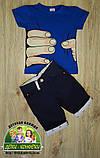 Темно-синие коттоновые шорты для мальчика, фото 5