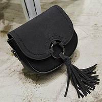 Женская мини сумочка через плечо черная