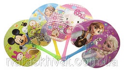 Веер детский круглый пластик