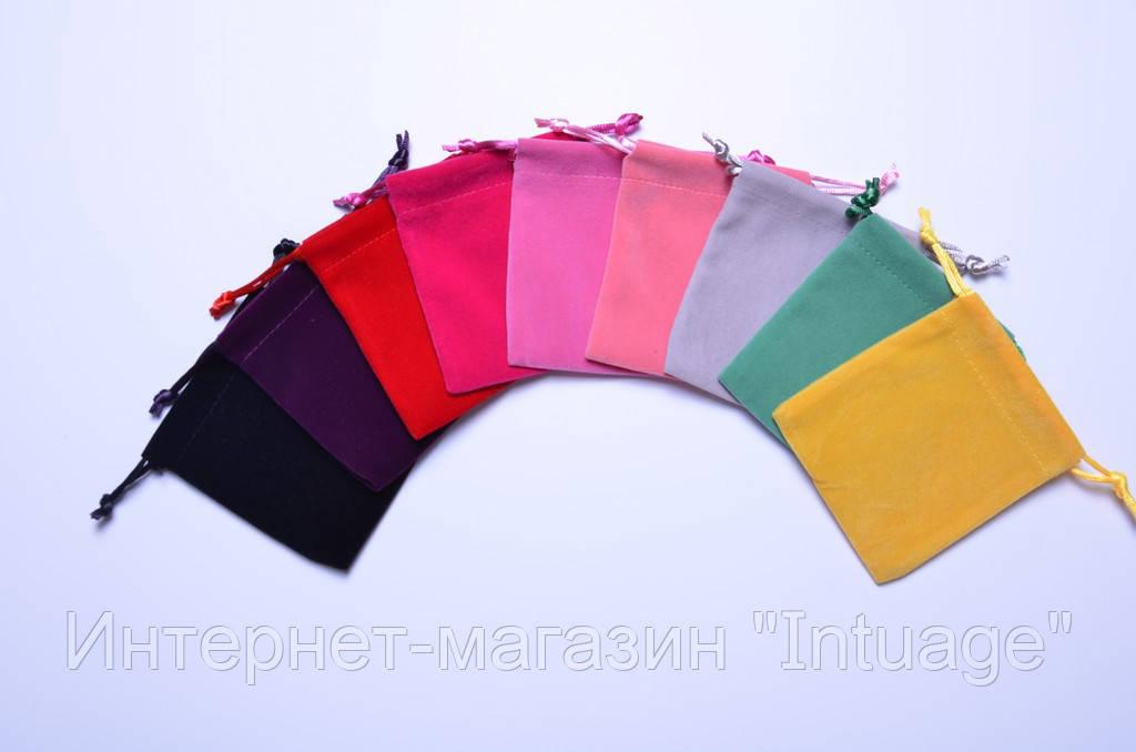 Подарочный мешочек из велюра размер 8*10 см