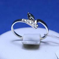 Серебряное кольцо с разноцветным цирконом кс 158 м топ