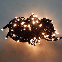 Гирлянда уличная Нить LED 120, тёплый белый, чёрный провод