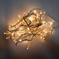 Гирлянда уличная Бахрома LED 120, тёплый белый, белый провод