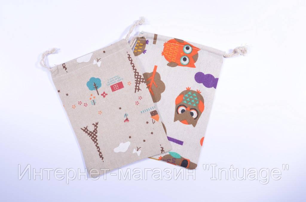Подарочный мешочек из мешковины размер 13*18 см