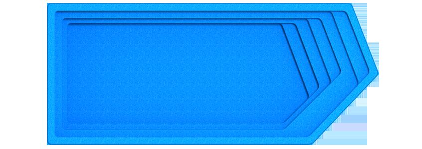 """Композитный бассейн """"Олимпик"""" (длина: 8,4 м, ширина:3,6 м, глубина1,55 м)"""