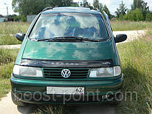 Дефлектор капота (мухобойка) volkswagen sharan I (фольксваген шаран 1995-2010)