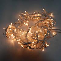 Гирлянда уличная Бахрома LED 100, тёплый белый