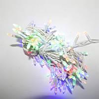 Гирлянда Нить Конус-рис LED 200 мульти, белый провод (1-27)