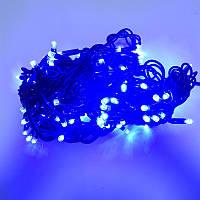 Гирлянда уличная Нить LED 100, синий, чёрный провод