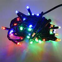Гирлянда уличная Нить LED 100, мульти, чёрный провод