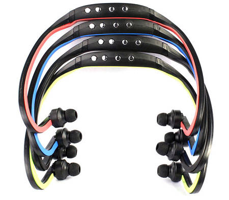 MP3 спорт плеер + наушники + FM радио + USB кабель