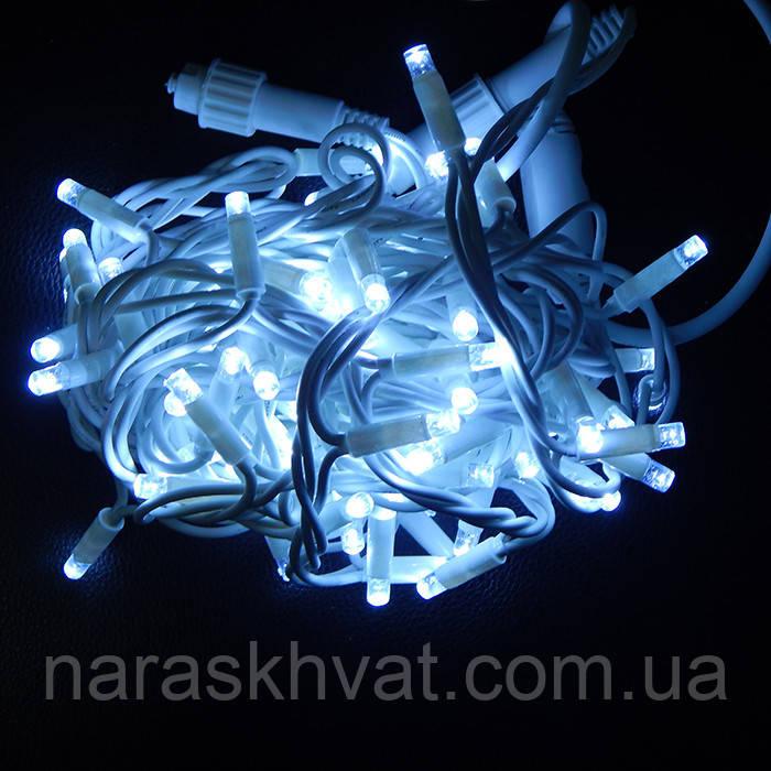 Гирлянда уличная Нить LED 100, белая, белый провод