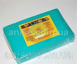 Полимерная глина Пластишка, №0116 бирюзовый, 250 г / Полімерна глина Пластішка, №0116 бірюзовий, 250 г
