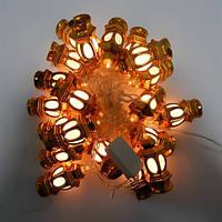 Гирлянда Уличный фонарь Золото LED 20 (1-91)