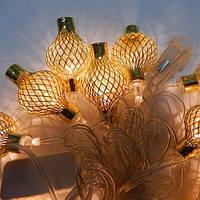 Гирлянда Китайский фонарик Золото LED 20 (1-118)