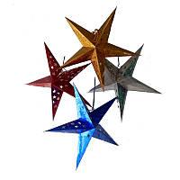 """Декор подвесной бумажный """"Звезда"""" красный"""