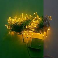 Гирлянда Нить LED 200 жёлтая