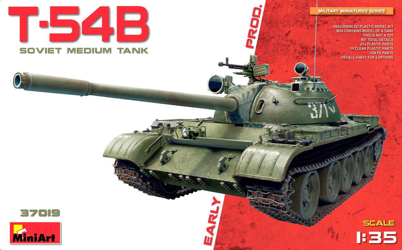 T-54Б СОВЕТСКИЙ СРЕДНИЙ ТАНК РАННИХ ВЫПУСКОВ. 1/35 MINIART 37019