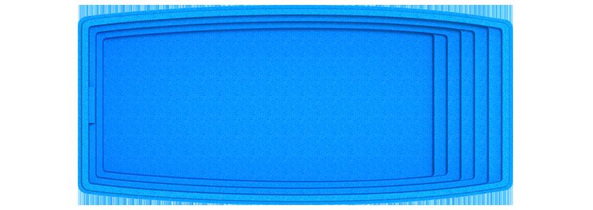 "Композитная чаша бассейна ""Парус"" (длина: 7,6 м, ширина:3,5 м, глубина:1,5 м)"
