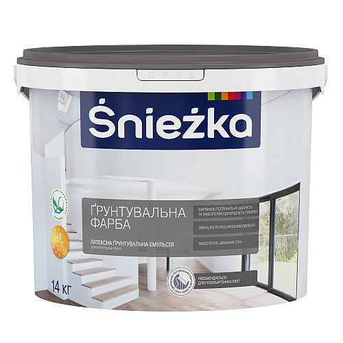 Грунтувальна фарба Снєжка   4,2 кг, Україна