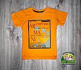 Летний костюм для мальчика: футболка Армани и бордовые шорты, фото 3