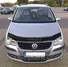 Дефлектор капота (мухобойка) volkswagen touran (фольксваген туран 2003-2007)