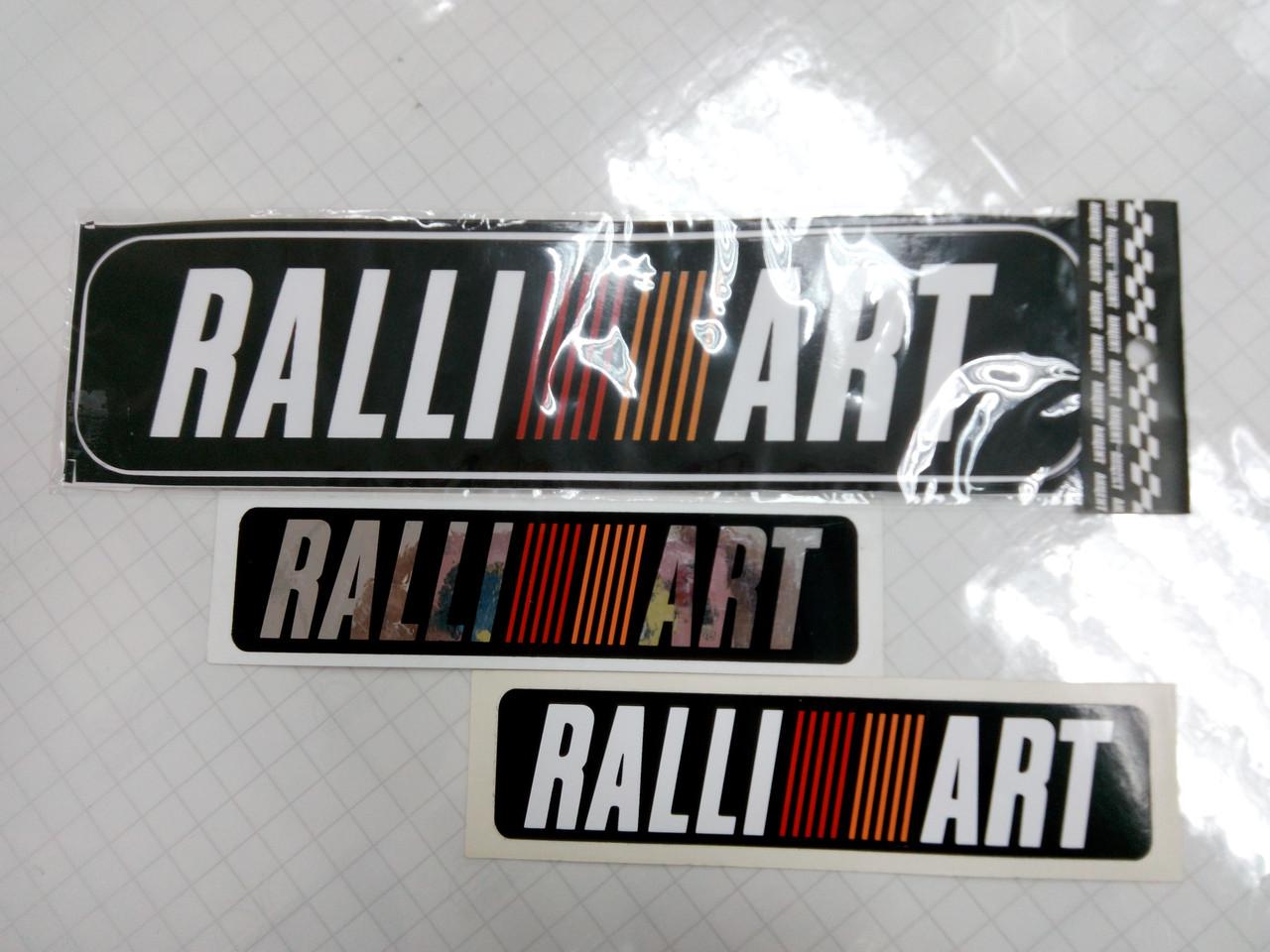 Виниловые наклейки RALLI ART  15х3,5 см  и  26х6,5 см