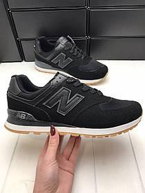 Мужские спортивные кроссовки New balance Black/Черные реплика