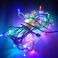Гирлянда уличная Бахрома  LED 120, мульти, белый провод