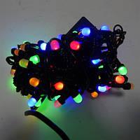 Гирлянда Нить Перламутр LED 100 мульти, чёрный провод (1-139)