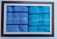 Подарочный Набор махровых полотенец для лица 2 шт турецкого качества