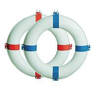 Круг спасательный Ø65см, белый с синим