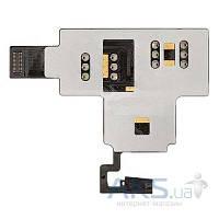 Шлейф для HTC T328w Desire V c кнопкой включения, коннектором SIM карты Original