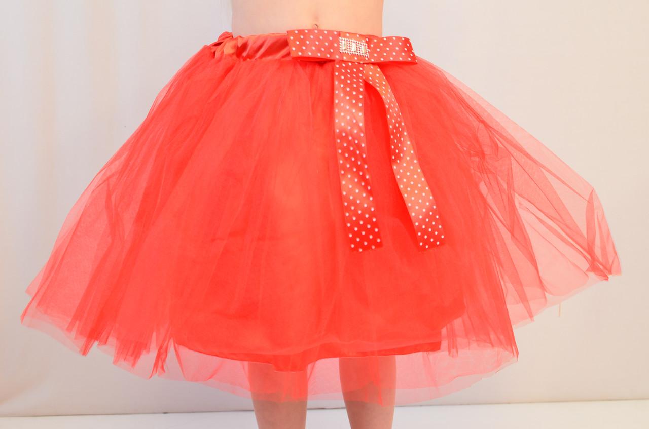 Праздничная пышная фатиновая юбка для юной балерины, 3-8 лет
