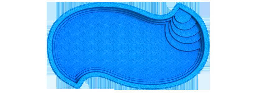 "Композитная чаша бассейна ""Амазонка"" (длина: 6,2 м, ширина:3,3 м, глубина:1,5 м)"