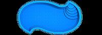 "Композитная чаша бассейна ""Амазонка"" (длина: 6,2 м, ширина:3,3 м, глубина:1,5 м), фото 1"