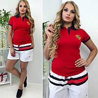 """Короткие женские шорты на резинке """"Tommy Hilfiger"""" с карманами (большие размеры)"""