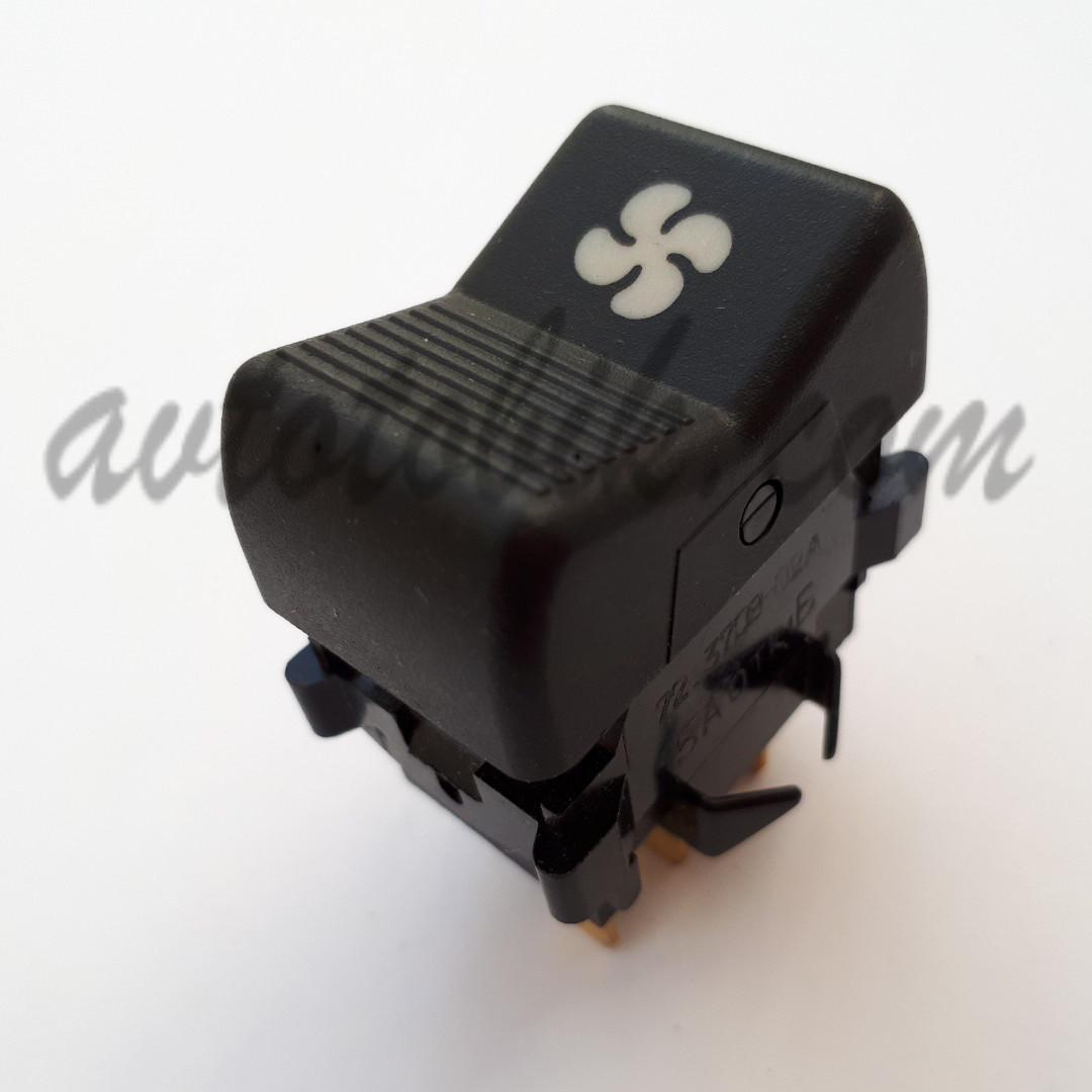Кнопка включения вентилятора отопителя с подсветкой символа ВАЗ 2107, 2121