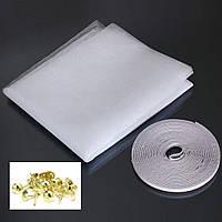 Антимоскитная сетка с липучкой на окно DIY, 150*150 см