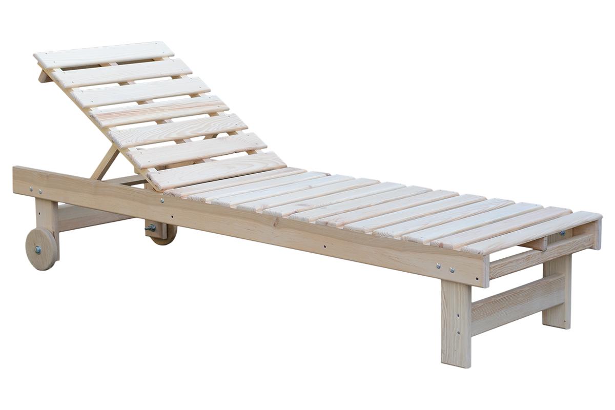 Лежак деревянный некрашенный