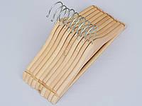 Плечики детские деревянные ECO светлые с перекладиной для брюк, 31,5 см, 10 штук в упаковке