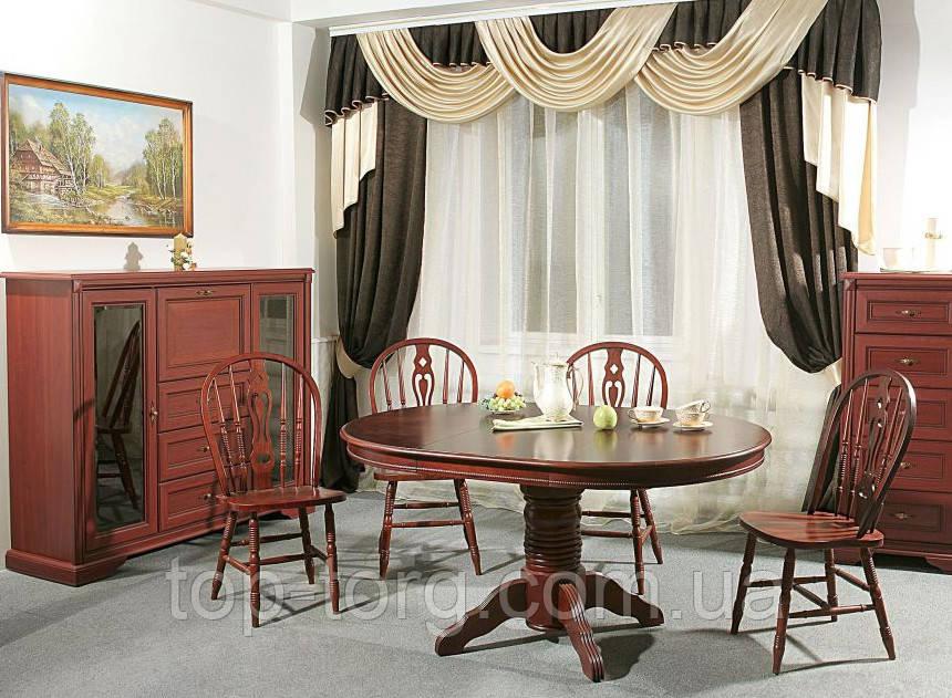 Комплект: Стол 4260-2 (4260SBP)+4стула 221с темная вишня