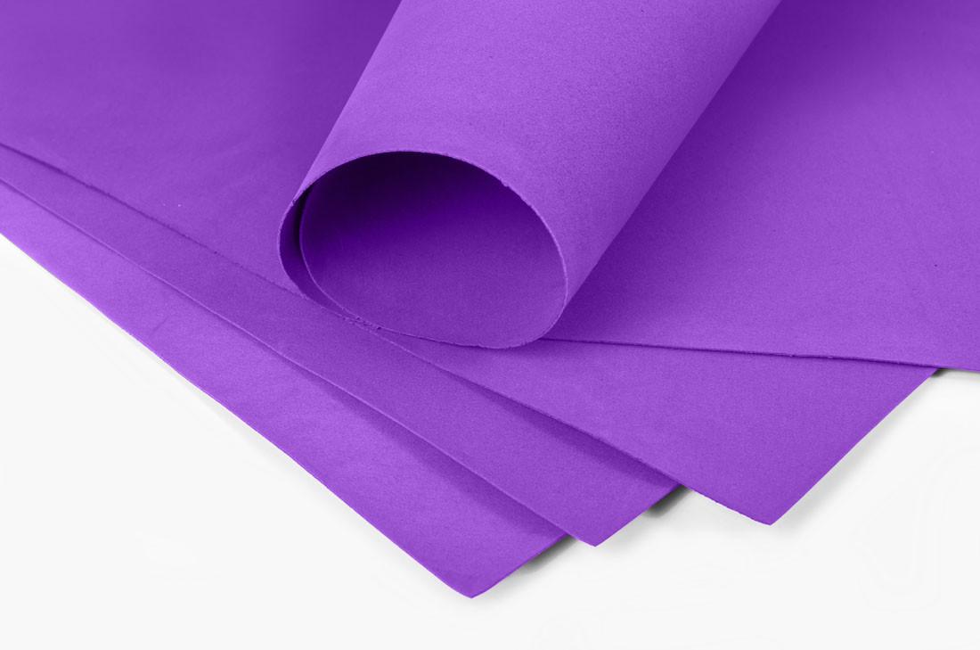 Фоамиран 2мм - листовой (1000*1500мм) фиолетовый