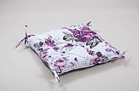 Подушка на стул Lotus Fiona 45*45 с завязками лиловая