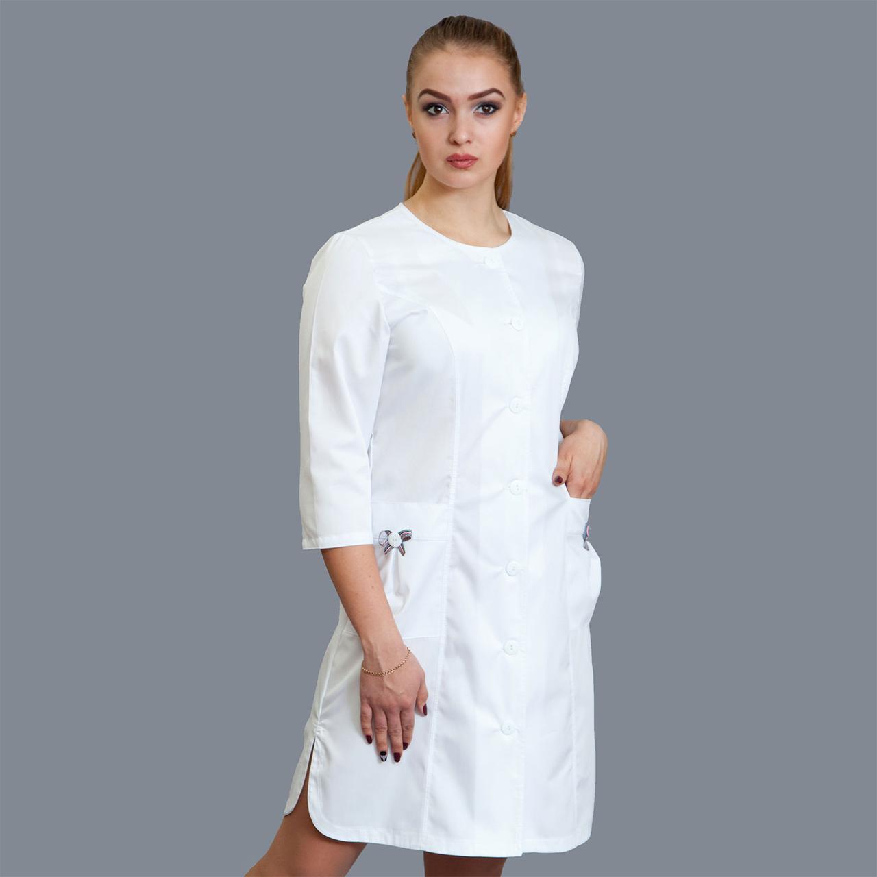 Медицинский женский халат Бантик р 40-58