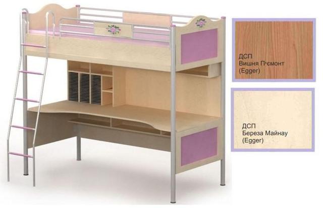 Кровать+стол An-16-1 Angel береза и вишня