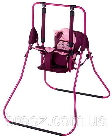 Качель Умка Casper бордовый-розовый, фото 2