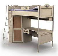 Кровать+стол+шкаф An-16-3 Angel комби (береза с вишней)
