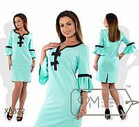 Платье женское нарядное рукав 3/4 костюмка Размеры: S, M, L 48, 50, 52, 54